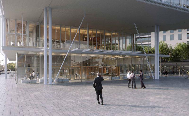 arquitectura accoya madera estructural fachada proyecto renzo piano maison avocats fachada exterior acceso