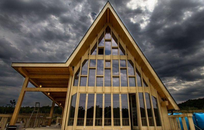 arquitectura accoya madera estructural fachada proyecto romanian home