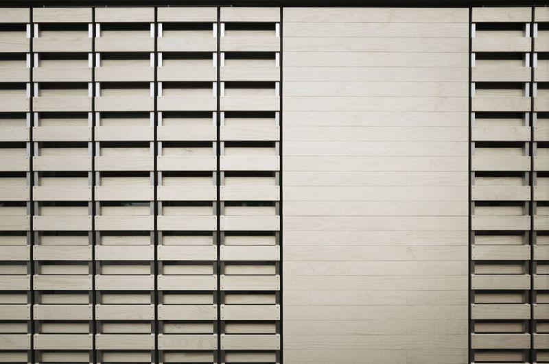 arquitectura accoya madera estructural fachada proyecto oak house school trasbordo estudio fachada detalle