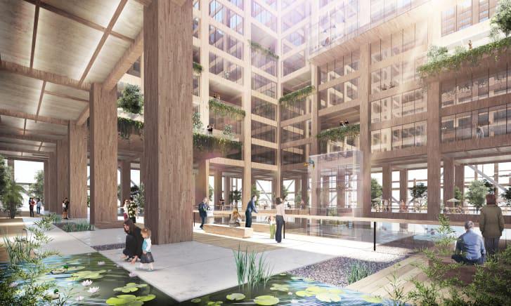 arquitectura sostenibilidad rascacielos madera estructural jardin vertical w350 tokyo sumitomo forestry