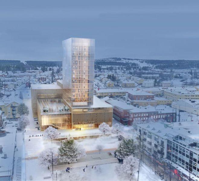 arquitectura sostenibilidad rascacielos madera estructural jardin vertical sida vid sida white arkitekter