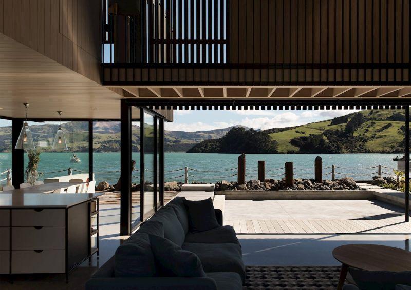 arquitectura_maison rue jolie_ vistas salón cocina