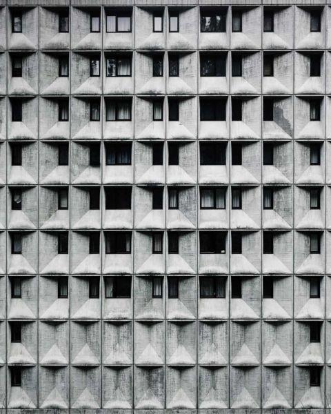 arquitectura Marcel Breuer Flaine fotografías Valentin Jeck exterior fachada prefabricada