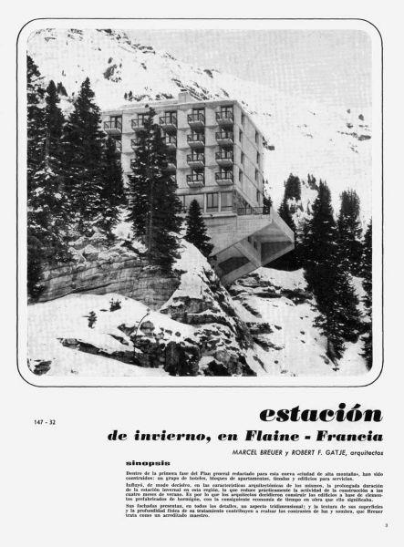 arquitectura Marcel Breuer Flainerevista informes de la contruccion portada