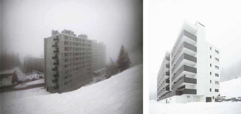 arquitectura Marcel Breuer Flaine fotografías Valentin Jeck exterior edificios apartamentos