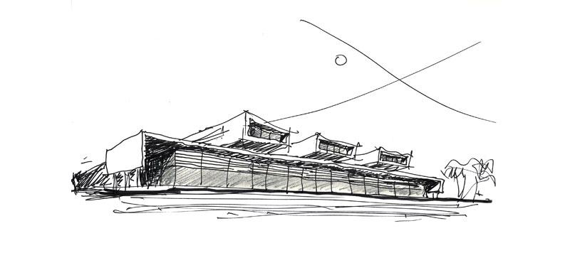 arquitectura mario corea arquitectura sanitaria fotografia Hospital Dr. Gutierrezboceto