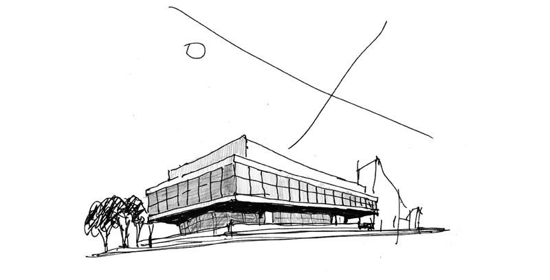arquitectura mario corea arquitectura sanitaria fotografia Hospital CEMAFE boceto