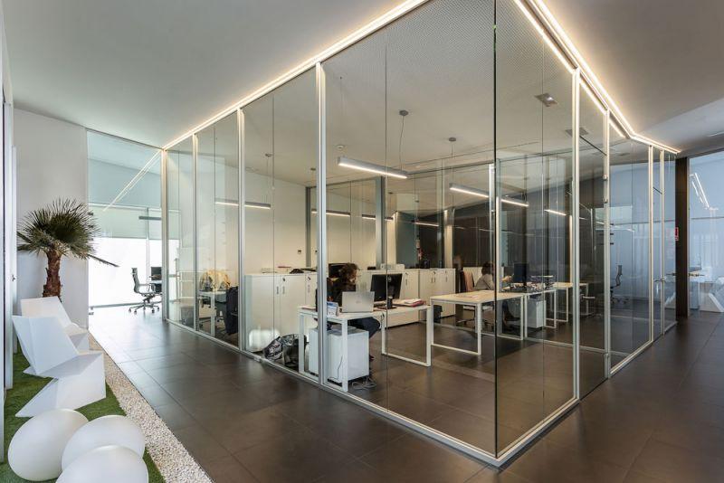 arquitectura Marta González Arquitectos Bodegas Paniza Foto interior oficinas