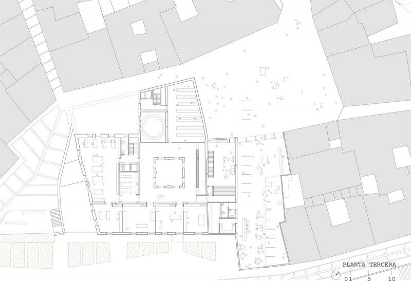 martinez contell arquitectos concurso palacio castifale planta tercera
