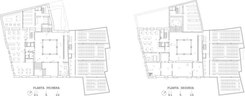 martinez contell arquitectos concurso palacio castifale plantas