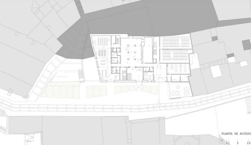 martinez contell arquitectos concurso palacio castifale planta acceso