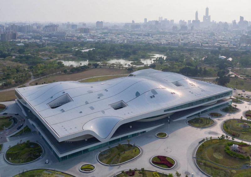 arquitectura mecanoo centro nacional arte kaohsiung fotografía iwan baan aerea
