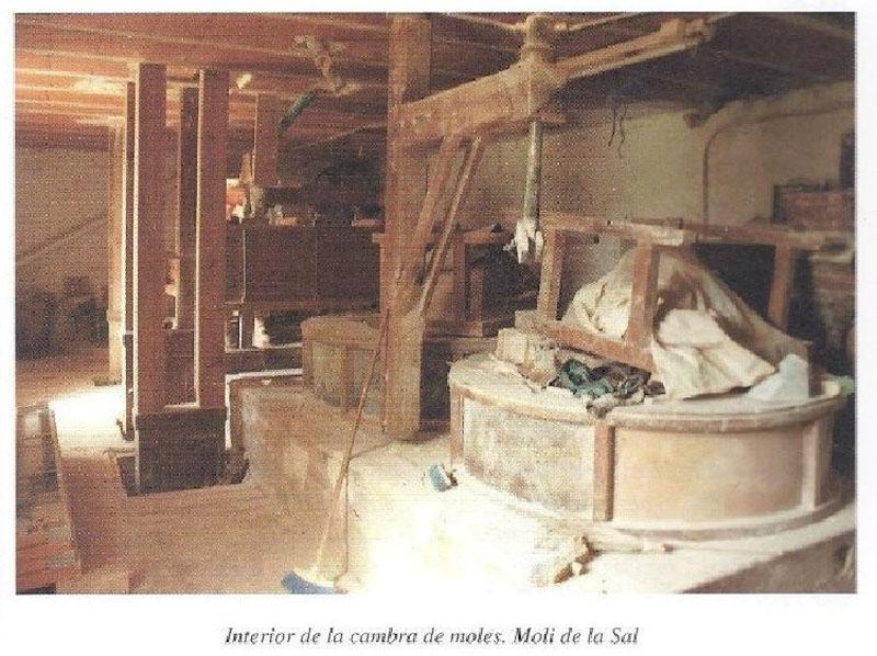 Arquitectura _Molino sal_ imagen antigua interior