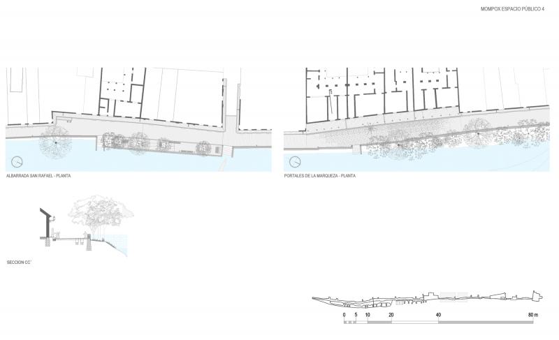 plano de espacio publico san rafael y portales de la marquesa