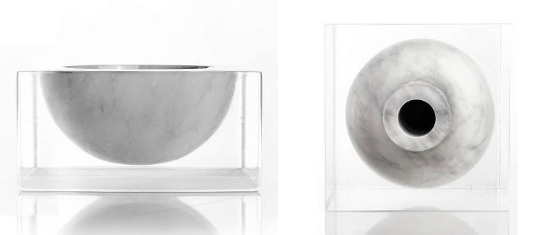 arquitectura, design, diseño, arquitecto, decoración, resina, mármol, Carrara, Italia, Collezione Sospesa, Moreno Ratti, MarmoTrilogy, jarrón, bol