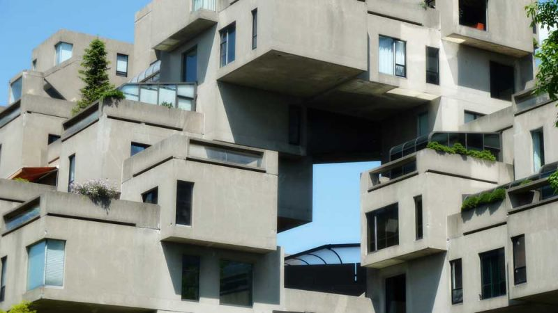 arquitectura safdie architechs habitat 67 fotografia detalle