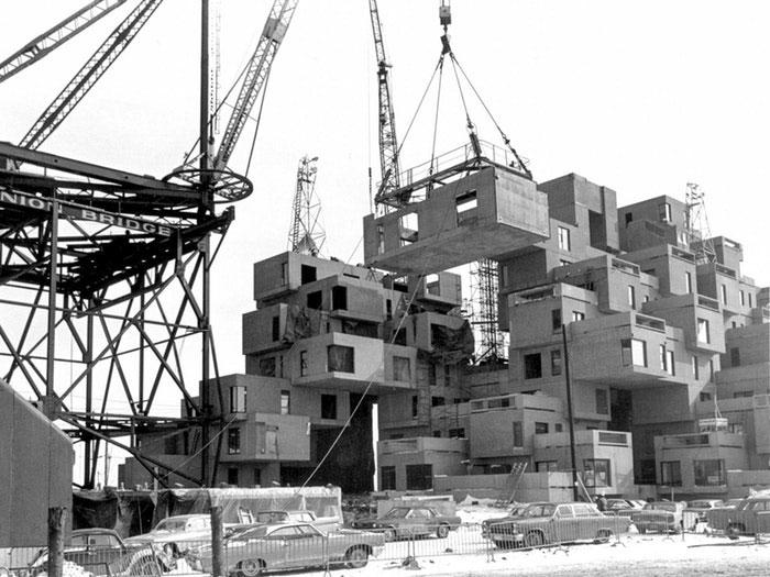 arquitectura safdie architechs habitat 67 fotografia construccion