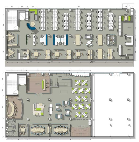 muebles de oficina montiel arquitecturayempresa plano oficina