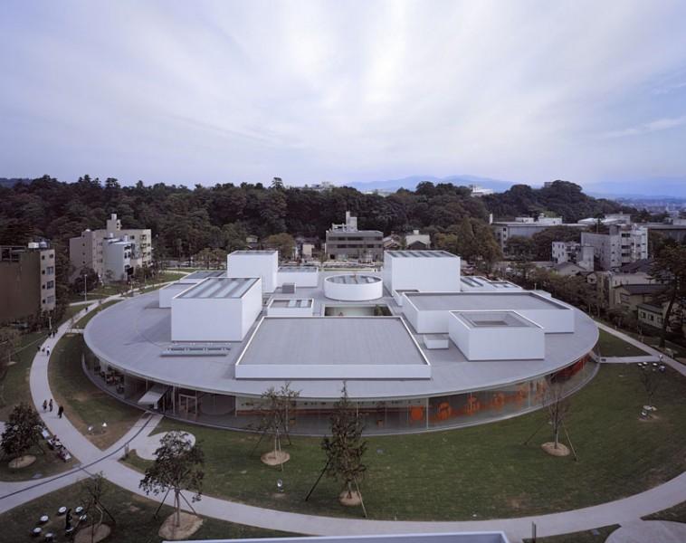 arquitectura museo de Arte Contemporáneo del Siglo XXI de Kanazawa