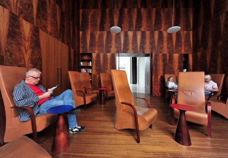 Interior de Museo Kolumba (biblioteca planta 2), Peter Zumthor. Fotografía de José Fernando Vázquez