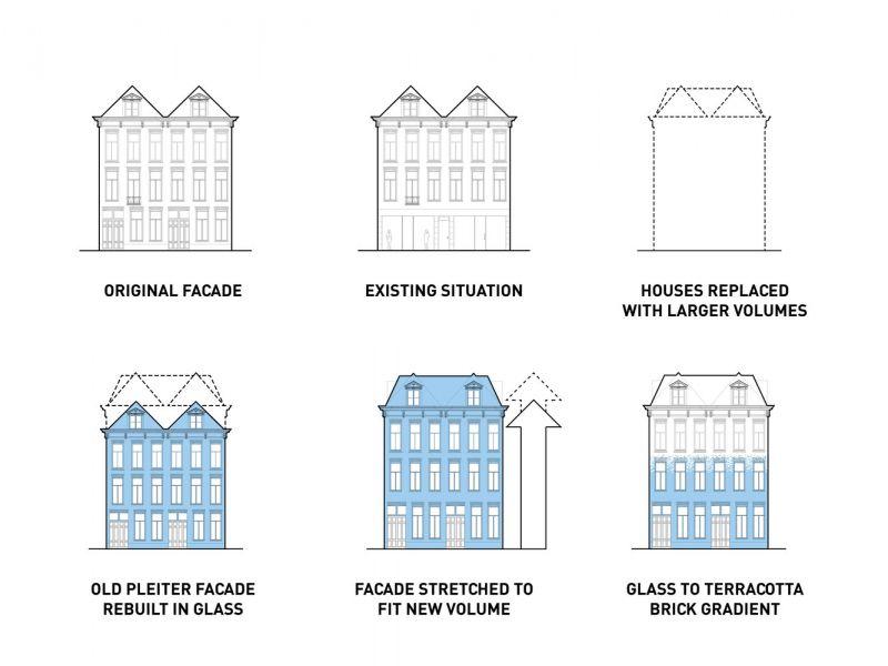 MVRDV Crystal Houses Amsterdam evolucion