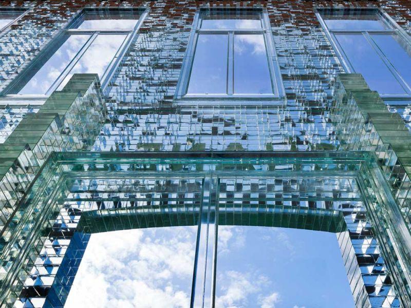 MVRDV Crystal Houses Amsterdam fotografia FACHADA TRANSICION LADRILLO