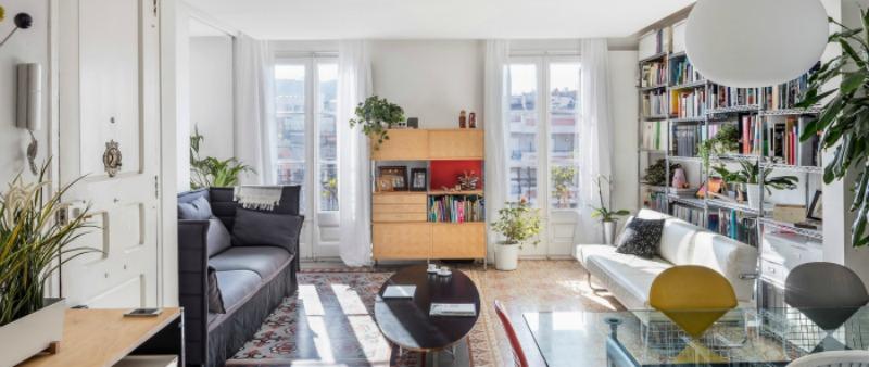 arquitectura, arquitecto, diseño, design, Barcelona, apartamento, vivienda, rehabilitación, restauración, loft, Eixample,  Narch Arquitectes, pavimento hidráulico