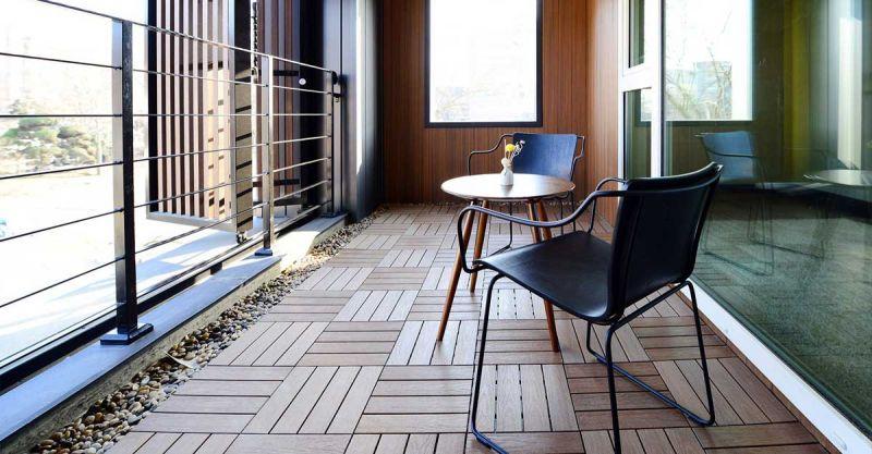 arquitectura y empresa newtechwood ultrashield  terraza interior
