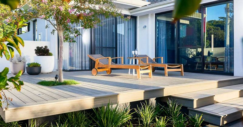 arquitectura y empresa newtechwood ultrashield  terraza hamacas