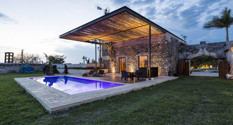 arquitectura rehabilitacion Niop _vista de la piscina