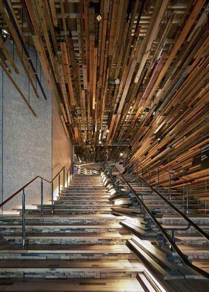 Arquitectura_ Nishi Commercial lobby Hotel_vista del arranque escalera