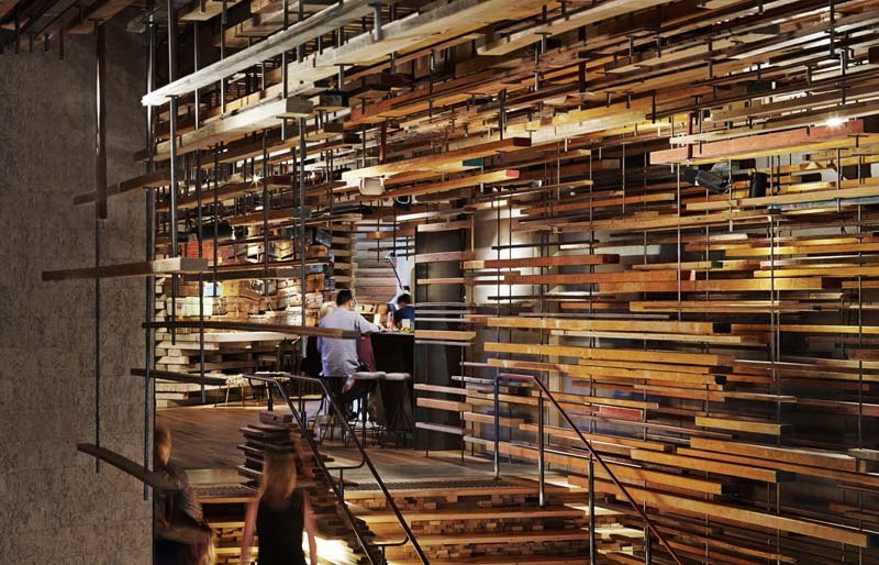 Arquitectura_ Nishi Commercial lobby Hotel_imagen conexión con madera