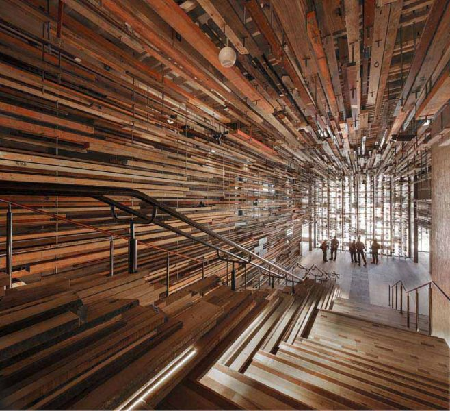 Arquitectura_ Nishi Commercial lobby Hote__March_Studio_imagen de escalera