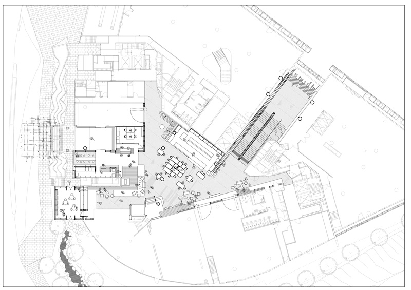 Arquitectura_ Nishi Commercial lobby Hotel__ plano de planta general