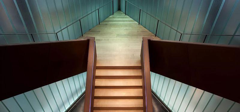arquitectura bodegas portia grupo faustino Foster and Partners imagen interior escalera