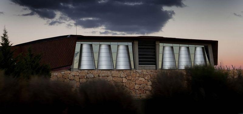 arquitectura bodegas portia grupo faustino Foster and Partners imagen exterior detalle