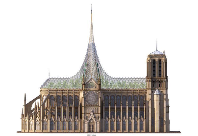 arquitectura arquitectura y empresa reconstruccion notre dame  Vincent Callebaut