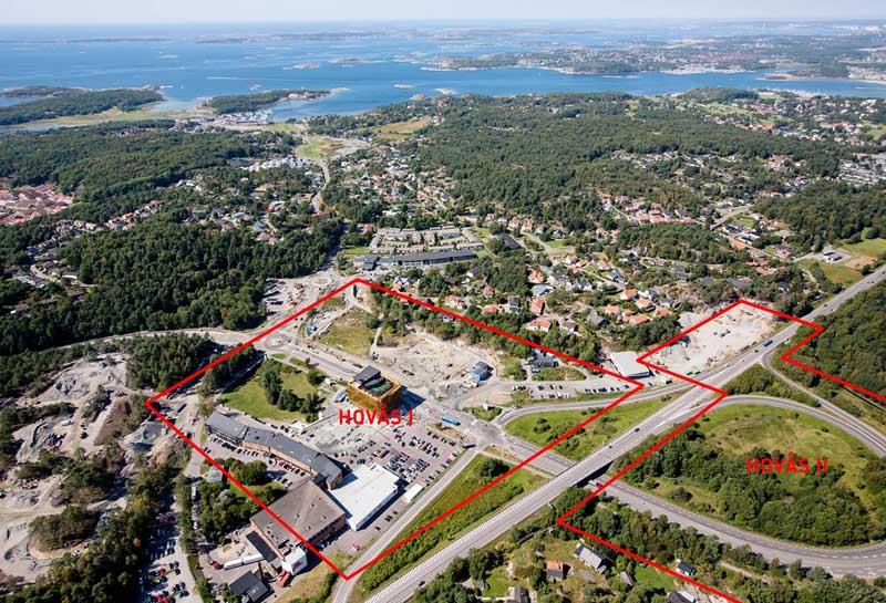vista aérea del ámbito del plan