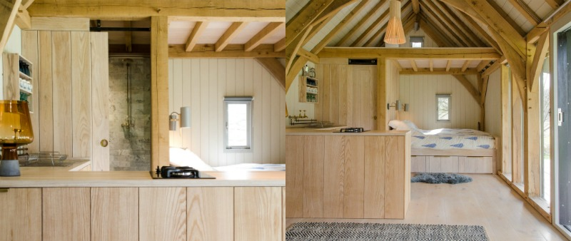 arquitectura, arquitecto, diseño, design, Oak Cabin, Out of the Valley, Inglaterra, cabina, vivienda, refugio, montaña, bosque, sostenible, sostenibilidad, construcción en madera, ecología, ecológico, roble, cedro