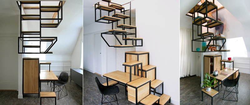 arquitectura, arquitecto, diseño, escalera, polivalente, Studio Mieke Meijer, Object Élevé