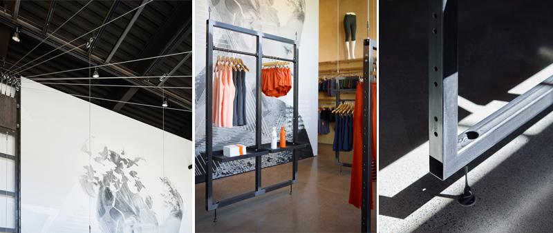 arquitectura, arquitecto, diseño, design, interior, interiorismo, madera, fly sistem, Oiselle, goCstudio, deporte, tienda, running, ropa