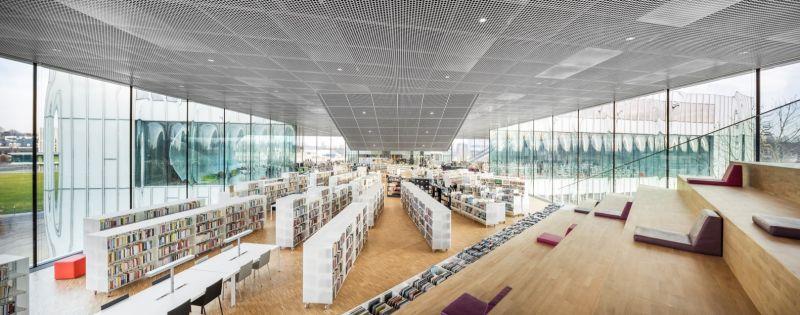 arquitectura OMA_biblioteca Caen_graderío P1_Delfino Sisto and Marco Cappelletti