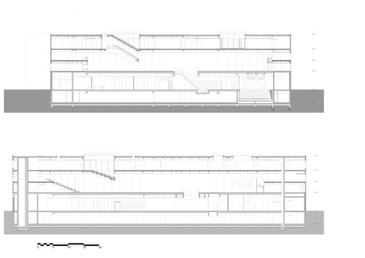 arquitectura OMA_biblioteca Caen_sección