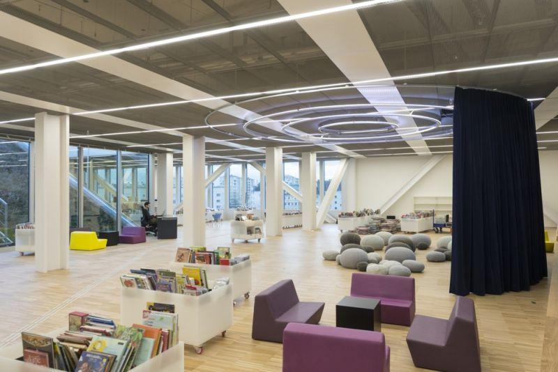 arquitectura OMA_biblioteca Caen_zona infantil_antoine cardi