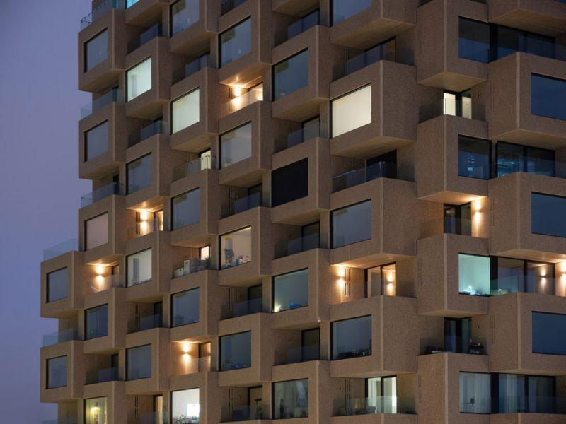 arquitectura Norra Tornen OMA Reiner de Graaf Torre Innovationen fotografía exterior Ossip van Duivenbode zoom