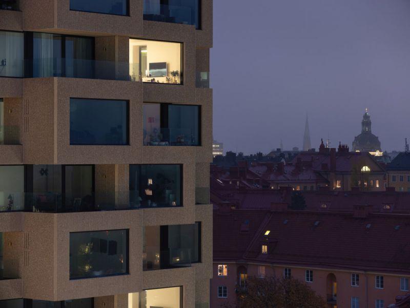 arquitectura Norra Tornen OMA Reiner de Graaf Torre Innovationen fotografía exterior Ossip van Duivenbode detalle