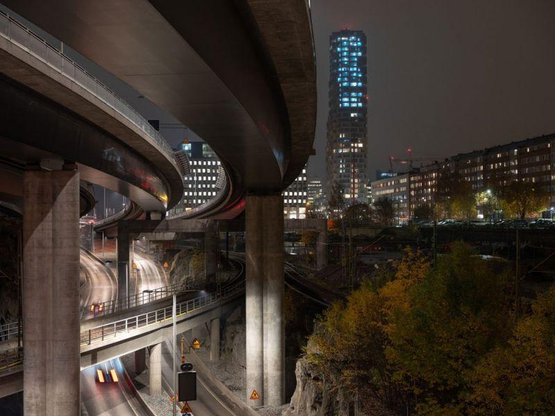 arquitectura Norra Tornen OMA Reiner de Graaf Torre Innovationen fotografía exterior Ossip van Duivenbode autopista
