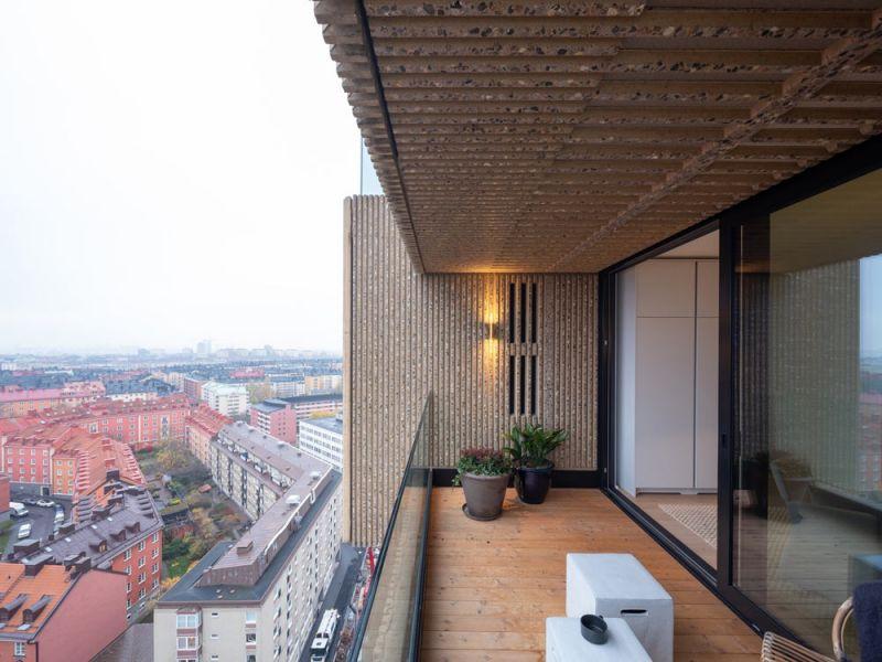 arquitectura Norra Tornen OMA Reiner de Graaf Torre Innovationen fotografía exterior Ossip van Duivenbode terraza