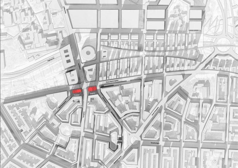 arquitectura Norra Tornen OMA Reiner de Graaf Torre Innovationen plano situacion