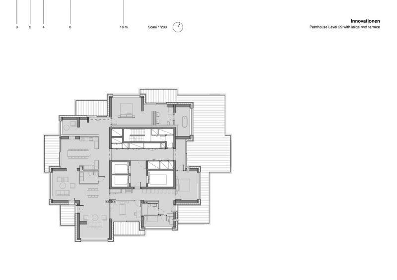 arquitectura Norra Tornen OMA Reiner de Graaf Torre Innovationen planta tipo 2